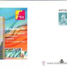 Sellos: ESPAÑA SOBRE ENTERO POSTAL OFICIAL 21 - FILATELIA '93. MADRID 1993. NUEVA.. Lote 38652873