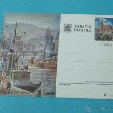 Sellos: ENTERO TARJETA POSTAL . PUERTO FLUVIAL - RIO NERVIÓN. BILBAO. EDIFIL 113. Lote 39945075