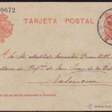 Sellos: ESPAÑA. (CAT. 45A). 1906. E. P. CAMPAMENTO DE LOS HIJARES (TOLEDO). FOTO AL DORSO DE SOLDADOS. RRR.. Lote 37272300