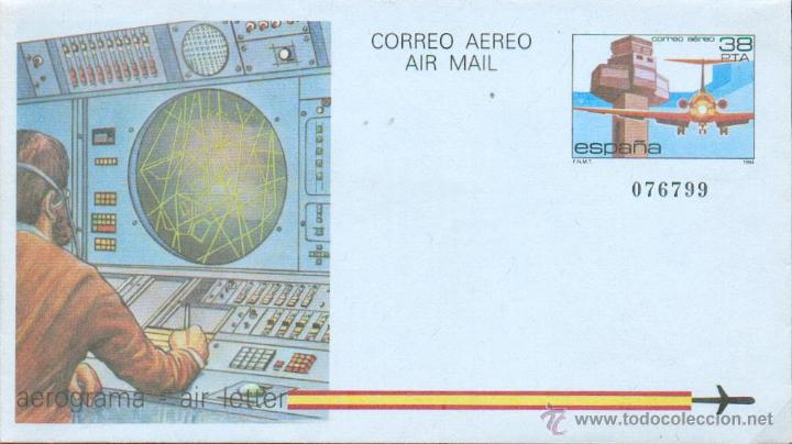 AEROGRAMA 8/84 - (Sellos - España - Entero Postales)