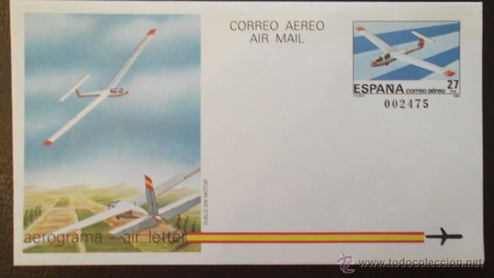 ESPAÑA. AEROGRAMA 209 VELERO DE CLASE ÓPTIMA GROB.1985. NUEVO Y NUMERACIÓN EDIFIL (Sellos - España - Entero Postales)