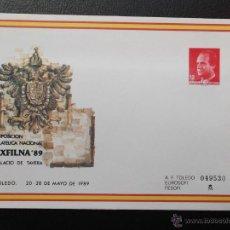 Selos: ESPAÑA. SOBRES ENTERO POSTALES. 13 EXP. FIL. NAL. EXFILNA'89. TOLEDO. SELLO 2798. 1989. NUEVO Y NUME. Lote 45369706