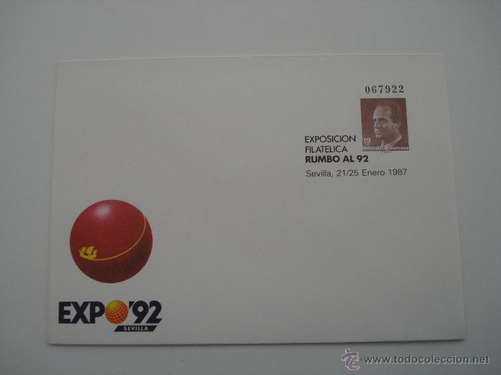 ESPAÑA - SOBRE ENTERO POSTAL - AÑO 1987 - EDIFIL Nº 6 - RUMBO 92 (Sellos - España - Entero Postales)