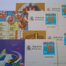 Sellos: ENTEROS POSTALES Nº 129-132 MUNDIAL FÚTBOL ESPAÑA 82 00703262. Lote 49543622