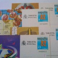 Sellos: ENTEROS POSTALES Nº 129-132 MUNDIAL FÚTBOL ESPAÑA 82 00702294. Lote 49543643