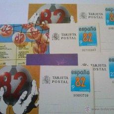 Sellos: ENTEROS POSTALES Nº 129-132 MUNDIAL FÚTBOL ESPAÑA 82 00703263. Lote 49543666