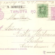 Sellos: ENTERO POSTAL MADRID BERLIN 1930. Lote 46217346