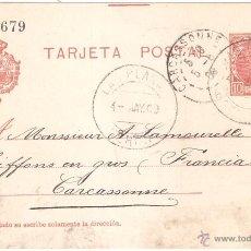 Sellos: ENTERO POSTAL LAS PLANAS A FRANCIA 1908. Lote 46079387