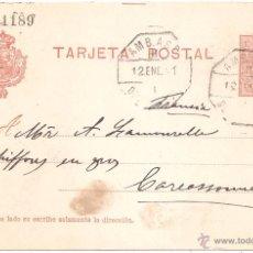 Sellos: ENTERO POSTAL GERONA LAS PLANAS A FRANCIA 1911. Lote 46079535