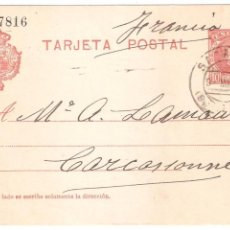 Sellos: ENTERO POSTAL SABADELL A FRANCIA 1909. Lote 45987423