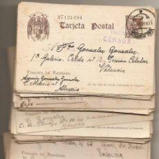 Sellos: CÁRCEL MODELO DE VALENCIA. LOTE DE 100 ENTEROS POSTALES CON CENSURA DE 1940-41. PERFECTO ESTADO. Lote 51773693