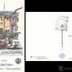 Stamps - LA TARJETA DEL CORREO 20-1, PALACIO DEL MAR (AQUARIUM) DE SAN SEBASTIÁN, MATASELLO DE LA EXPOSICIÓN - 136396726