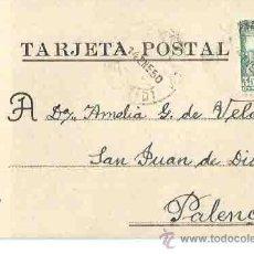 Sellos: MADRID. PALENCIA. 14 DE ENERO DE 1950.. Lote 54267284