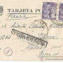 Sellos: PASTRANA, GUADALAJARA. FRANCIA. 5 DE OCTUBRE DE 1945. CENSURA GUBERNATIVA. CENSOR? 160.. Lote 54267387