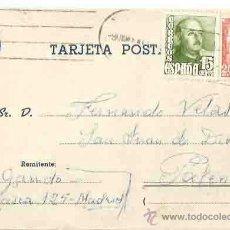 Sellos: MADRID. PALENCIA. 9 DE DICIEMBRE DE 1949. Lote 54267455