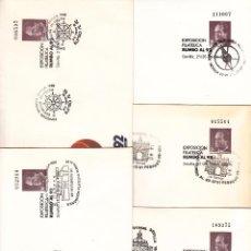 Francobolli: ESPAÑA S.E.P. 6 MATº SEVILLA 5 DIFERENTES, EXPO 92, EXPOSICION FILATELICA RUMBO AL 92,. Lote 95481259