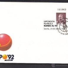 Sellos: .OFERTA ESPAÑA S.E.P. .6 MATº SEVILLA 20-25/1/87 RUMBO AL 92, LOTE 25 UNIDADES, EXPO 92 SEVILLA. Lote 54807876