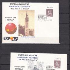 Sellos: .OFERTA ESPAÑA S.E.P. 6A/B NUEVO, LOTE 10 JUEGOS, EXPO 92, 750 ANIVº CONQUISTA, 800 ANIVº GIRALDA. Lote 103966303