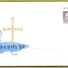 Sellos: 1987 JUVENIA, EDIFIL Nº 10 (*) ENTERO POSTAL CONMEMORATIVO OFICIAL. Lote 55341861