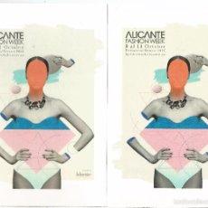 Stamps - ALICANTE 2 TARJETAS ENTERO POSTALES TARIFA A Y B FASHION WEEK SEMANA DE LA MODA FASHION WEEK TIRADA - 67722035