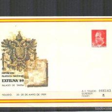 Sellos - SEP 13 ENTERO POSTAL EXPOSICION EXFILNA 89.TOLEDO.1989.NUEVO. - 57100718