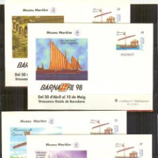 Sellos - SEP 45 ENTERO POSTAL BARNAFIL 98 BARCOS.BARCELONA 1998 (4 SOBRES) - 57227976