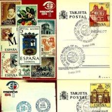 Sellos: ESPAÑA 1984- EDI 135/36 (TARJETA ENTERO POSTAL) (MATASELLOS ESPECIAL) ESPAÑA'84 (3-MAY). Lote 62440260