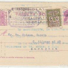 Sellos: 69 FBE. BARCELONA A ZARAGOZA. 1935. Lote 64001515