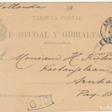 Sellos: 25 C. ALFONSO XIII. 1890. SEVILLA A ARNHEN (HOLANDA). 1893. Lote 64004727