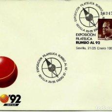 Sellos: ESPAÑA 1987-EDI 06(SOBRE ENTERO POSTAL)(20/25-ENE) SEVILLA MATASELLOS ESPECIAL RUMBO'92. Lote 64421947