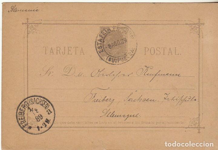 11EZ. IRÚN A FREYBERG (ALEMANIA) 1889 (Sellos - España - Entero Postales)