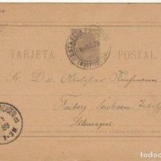 Sellos: 11EZ. IRÚN A FREYBERG (ALEMANIA) 1889. Lote 65836182