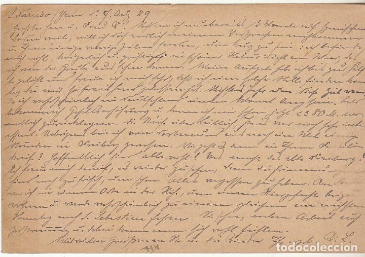 Sellos: 11ez. IRÚN a FREYBERG (ALEMANIA) 1889 - Foto 2 - 65836182