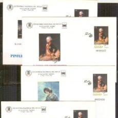 Sellos: SEP 35 EDIFIL FERIA NACIONAL DEL SELLO 1996 GOYA.MADRID (4 SOBRES)NUEVOS. Lote 66468974