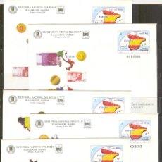 Sellos: SEP 54 EDIFIL FERIA NACIONAL DEL SELLO 1999 PAISES DEL EURO.MADRID (5 SOBRES). Lote 66469370