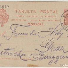 Sellos: 47. ALFONSO III. BILBAO A GRAZ (AUSTRIA). 1906. Lote 66530814