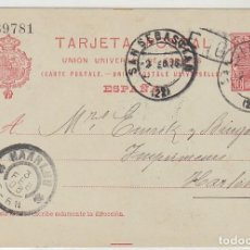 Sellos: 47. ALFONSO III. SAN SEBASTIAN A HARLEM. (HOLANDA). 1906.. Lote 66532018