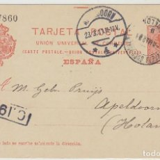 Sellos: 53. ALFONSO XIII. BARCELONA A APELDOORN (HOLANDA). 1911.. Lote 66811786