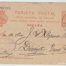 Sellos: 53. ALFONSO XIII. MÁLAGA A DEVENTER (HOLANDA). 1914.. Lote 66812546