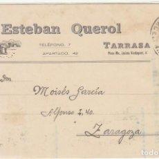 Sellos: SELLO 315 . ALFONSO XIII. BARCELONA A ZARAGOZA . 1939.. Lote 66902038