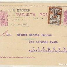 Sellos: 69. MATRONA. BARCELONA A ZARAGOZA. 1934.. Lote 67088617