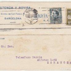 Sellos: II REPÚBLICA. BARCELONA A ZARAGOZA. 1931.. Lote 67089761