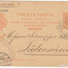 Sellos: 42-42A. ALFONSO XIII. BARCELONA-ALEMANIA.1902. Lote 67241169