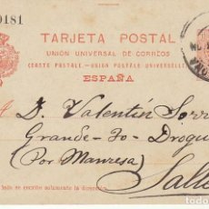 Sellos: 53. ALFONSO XIII. BARCELONA A SALLENT. 1913.. Lote 68731365