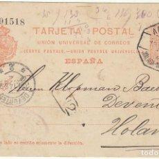 Sellos: 53. ALFONSO XIII . MALAGA A DEVENTER (HOLANDA). 1914.. Lote 68731813