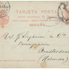 Sellos: 49. ALFONSO XIII. BARCELONA A AMSTERDAM (HOLANDA). 1906.. Lote 68732037
