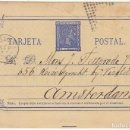 Sellos: 8. ALFONSO XII. CÁDIZ A AMSTERDAM (HOLANDA). 1877.. Lote 68750237