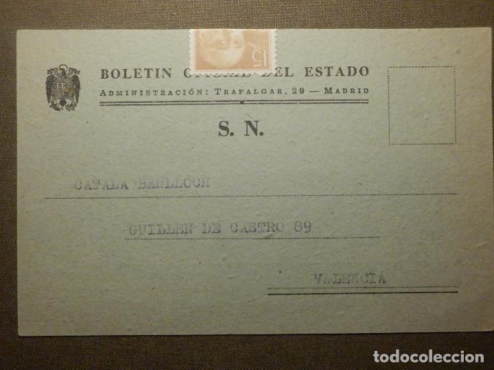Sellos: Tarjeta Postal - Boletin Oficial del estado - Año 1957 - - Foto 2 - 68866857