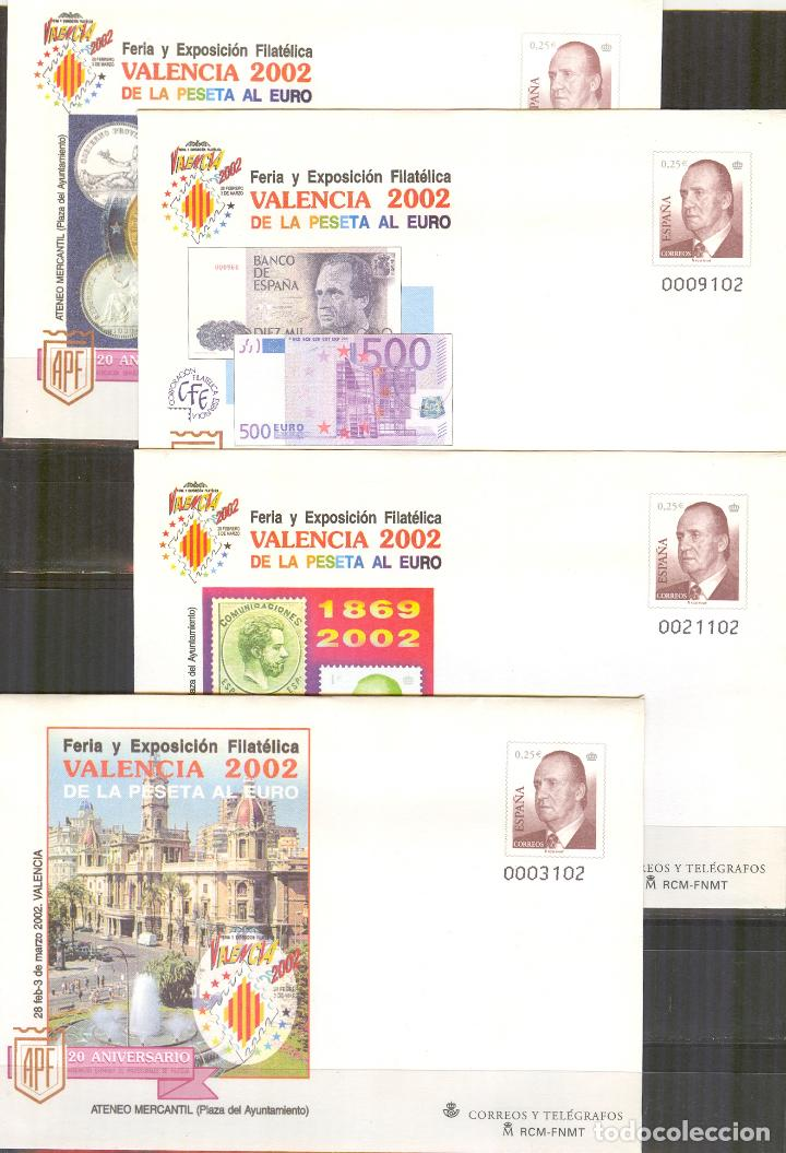 SEP 75 ENTERO POSTAL FERIA VALENCIA 2002.4 SOBRES NUEVOS (Sellos - España - Entero Postales)