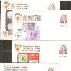 Stamps - SEP 75 ENTERO POSTAL FERIA VALENCIA 2002.4 SOBRES NUEVOS - 69859201
